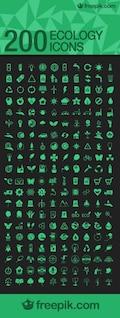 Pack de iconos de ecológía, formato .ai