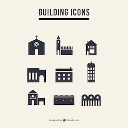 Pack de iconos de edificios