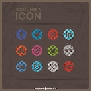 Pack de iconos de redes sociales redondos