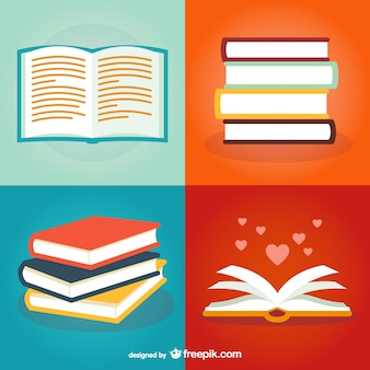 Pack de ilustraciones de libros