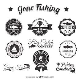 Pack de insignias de pesca