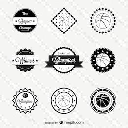 Pack de insignias retro de baloncesto
