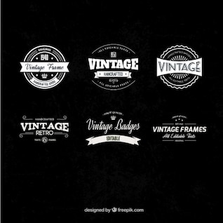Pack de insignias vintage