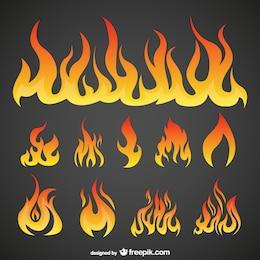 Pack de llamas