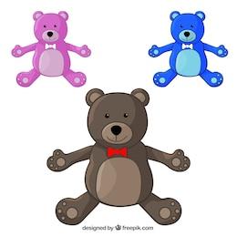 Pack de osos de peluche