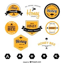 Pack de plantillas de etiquetas de miel