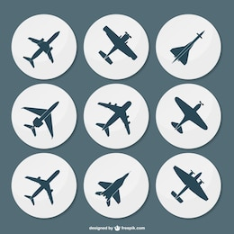 Pack de siluetas de aviones