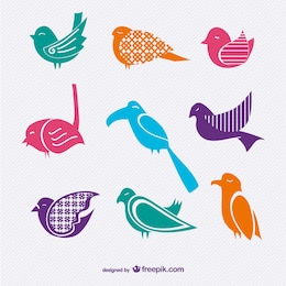 Pack de vectores de aves
