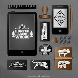 Pack de vectores de cazador