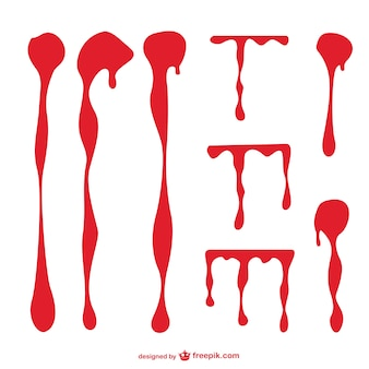 Pack de vectores de manchas de sangre