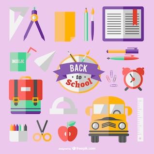Pack de vectores de vuelta a la escuela