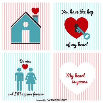 Pack de vectores vintage de San Valentín