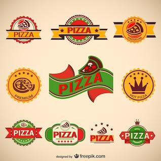 Pack logos de pizza