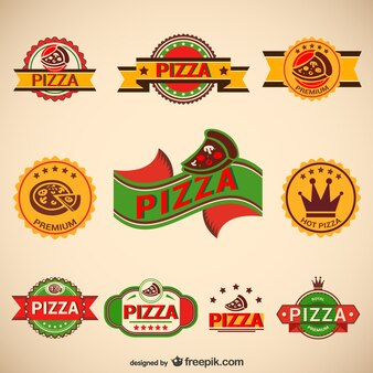 Pack logos de pizza