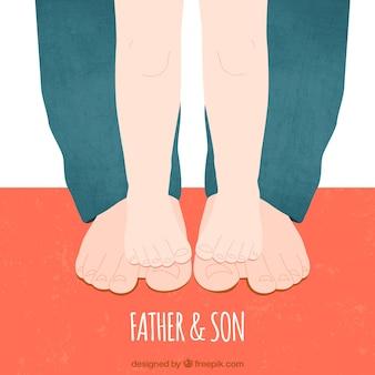 Padre e hijo pies