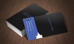 Página de la tarjeta de visita del enrollamiento