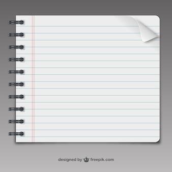Página del cuaderno del vector