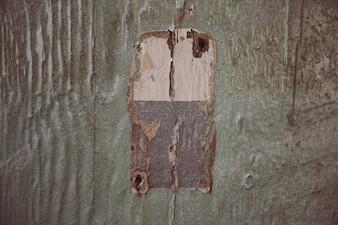Salpicaduras de pintura en la puerta