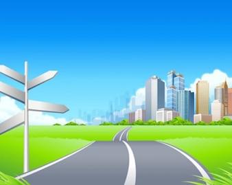paisaje de la ciudad verde