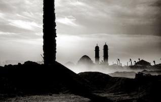 paisaje de la mezquita en Egipto