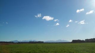 Paisaje de Nueva Zelanda en invierno