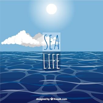 Paisaje de vida en el mar