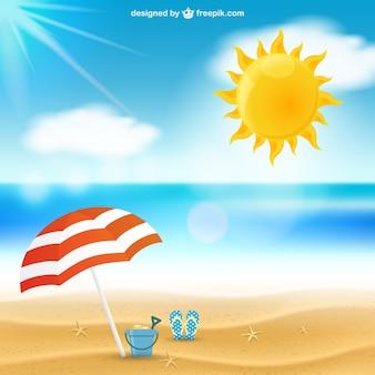 Paisaje marino del verano