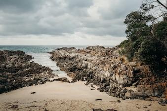 Paisaje marino hermoso en el cabo Conran, Australia.