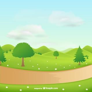 Paisaje natural con árboles