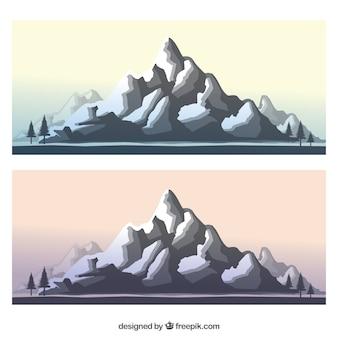 Paisaje rocoso de la montaña