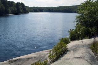 paisaje tranquilo lago