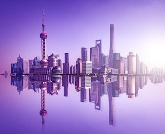 Paisaje urbano de shanghái