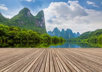 Paisajes naturales li campo de bambú al aire libre