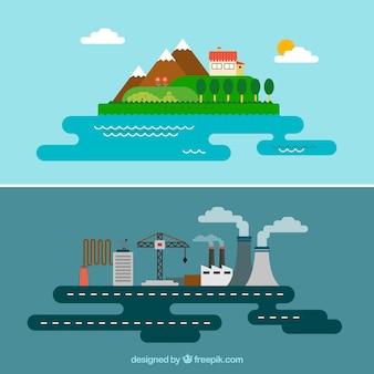 Paisajes rurales e industriales