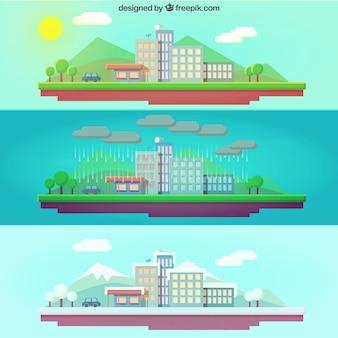 Paisajes urbanos estacionales