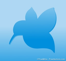 Pájaro azul fondo forma
