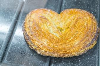 Pan en forma de corazón.