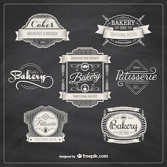 Panadería retro insignias