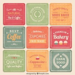 Panadería y cafetería tarjetas