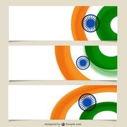 Pancartas con bandera india