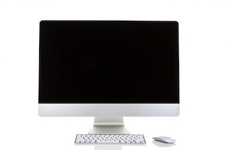 Pantalla de ordenador sobre un fondo blanco