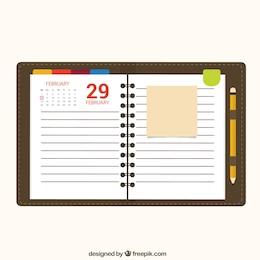 Papel de libreta de calendario