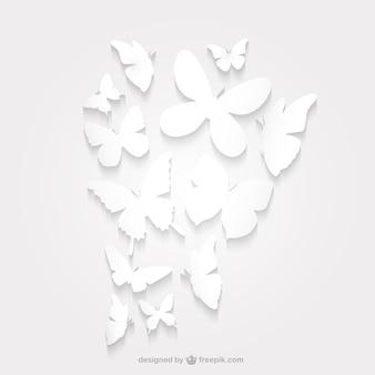 Silueta paquete mariposa de papel