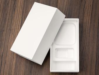 Paquete blanco vacío