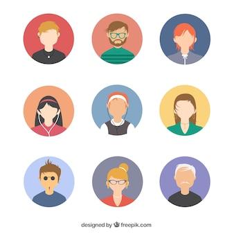 Paquete de avatares de gente