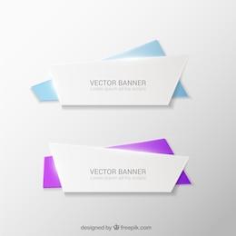 Paquete de banners de origami