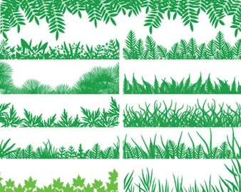 paquete de hierba verde de vectores
