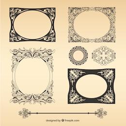Paquete de marcos vintage vector