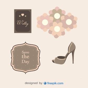 Paquete de objetos de boda