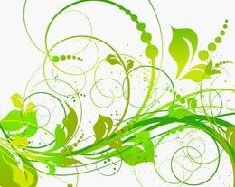 Paquete de vectores verde floral icono